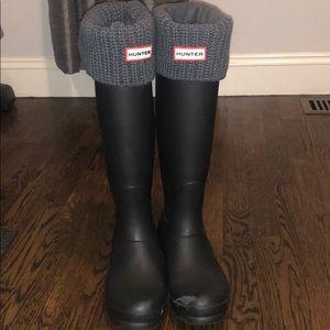 Hunter Rainboots with Hunter Socks